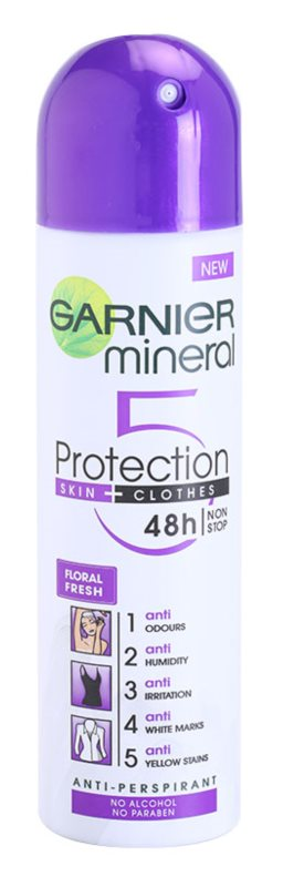 Garnier Mineral 5 Protection antyprespirant w sprayu bez alkoholu
