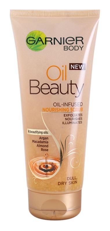 Garnier Oil Beauty ulei de corp nutritiv exfoliant pentru piele uscata