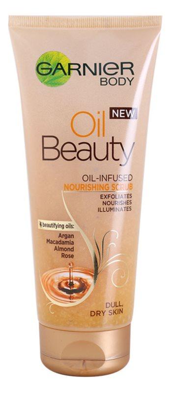 Garnier Oil Beauty vyživující olejový tělový peeling pro suchou pokožku