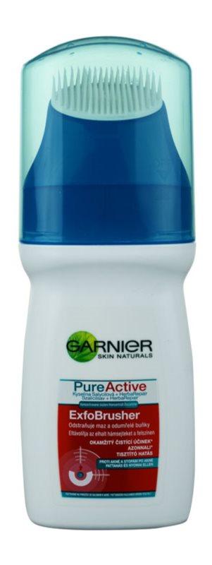 Garnier Pure Active gel de limpeza com escova