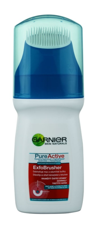 Garnier Pure Active gel nettoyant détoxifiant avec brosse