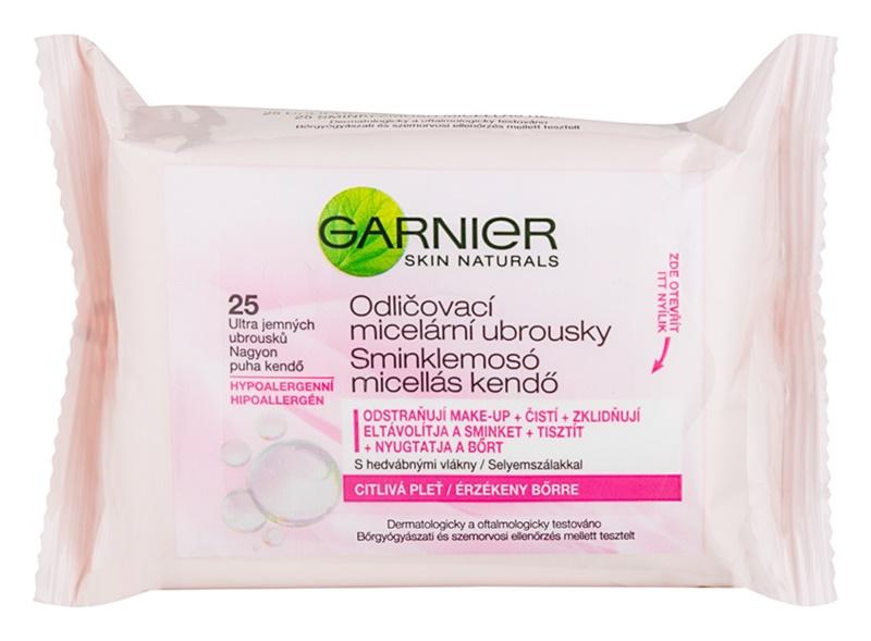 Garnier Skin Naturals lingettes micellaires démaquillantes pour peaux sensibles