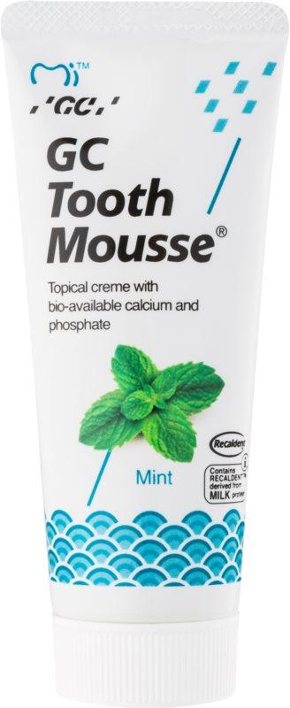 GC Tooth Mousse Mint crema protectora remineralizante para dientes sensibles  sin flúor