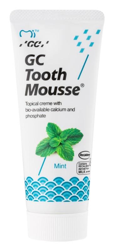 GC Tooth Mousse Mint remineralizačný ochranný krém pre citlivé zuby bez fluóru