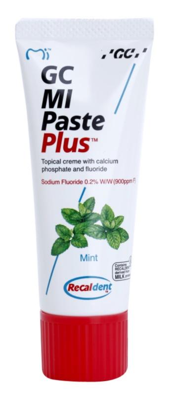 GC MI Paste Plus Mint crema protectora remineralizante para dientes sensibles  con fluoruro