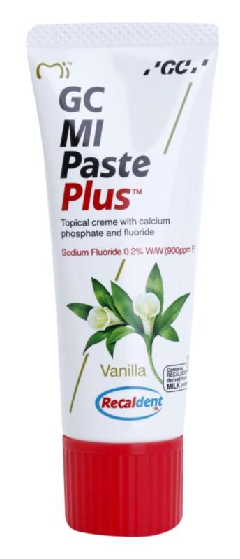 GC MI Paste Plus Vanilla реминализиращ защитен крем за чувствителни зъби с флуорид