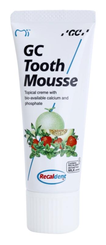 GC Tooth Mousse Melon crème protectrice reminéralisante pour dents sensibles sans fluorure