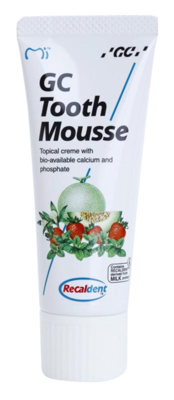 GC Tooth Mousse Strawberry creme protetor remineralizante para dentes sensíveis sem fluór