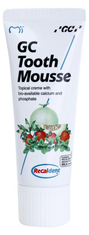 GC Tooth Mousse Tutti Frutti crème protectrice reminéralisante pour dents sensibles sans fluorure
