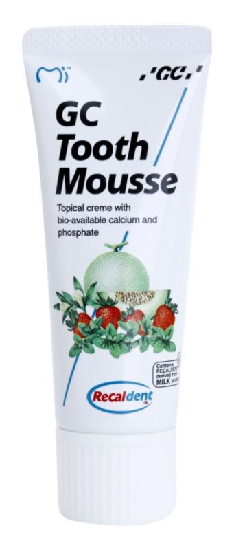 GC Tooth Mousse Tutti Frutti schützende remineralisierende Zahncreme für empfindliche Zähne ohne Fluor