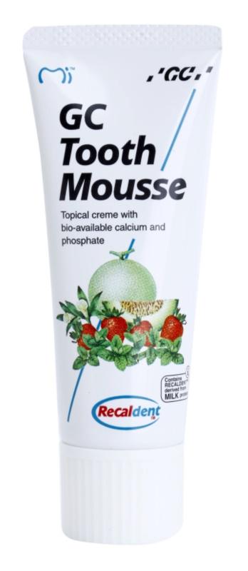 GC Tooth Mousse Vanilla crème protectrice reminéralisante pour dents sensibles sans fluorure