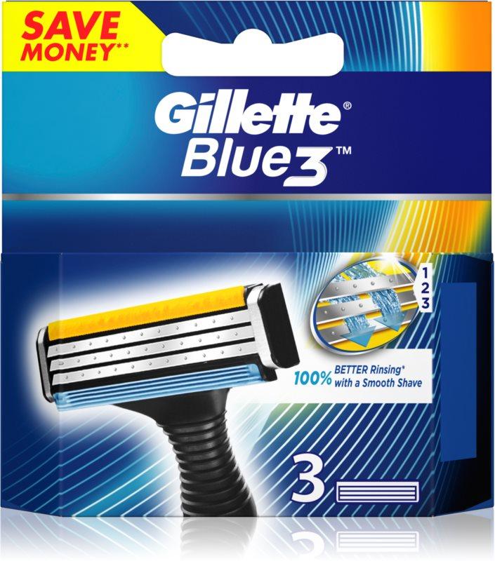 Gillette Blue 3 lames de rechange 3 pièces
