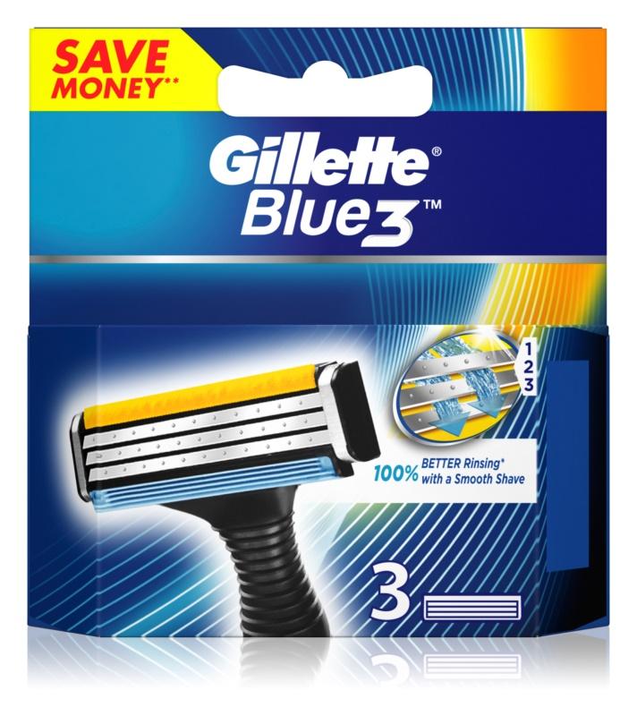 Gillette Blue 3 náhradné žiletky 3 ks