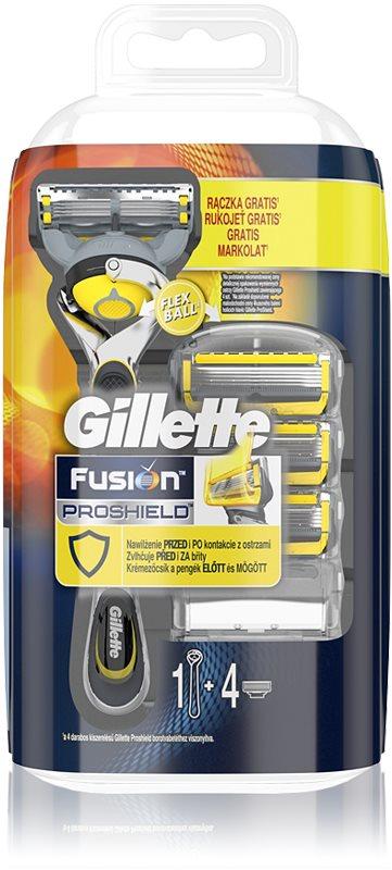 Gillette Fusion Proshield rasoir + lames de rechange 4 pièces