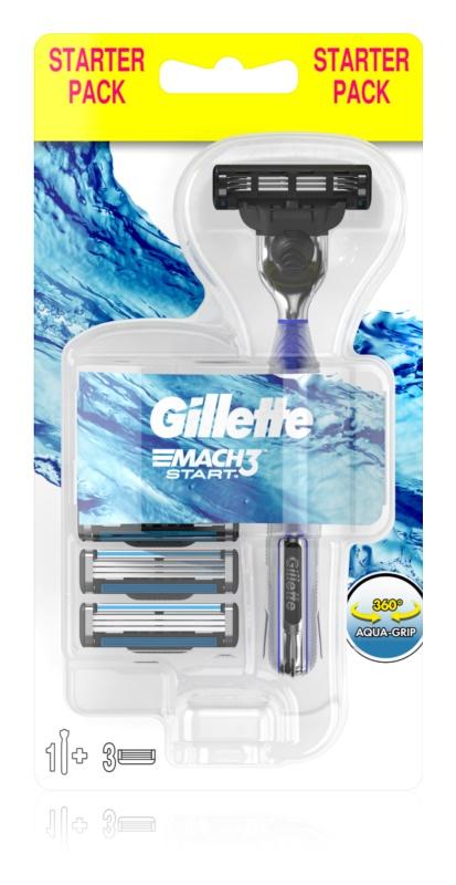 Gillette Mach 3 Start holicí strojek + náhradní břity 3 ks