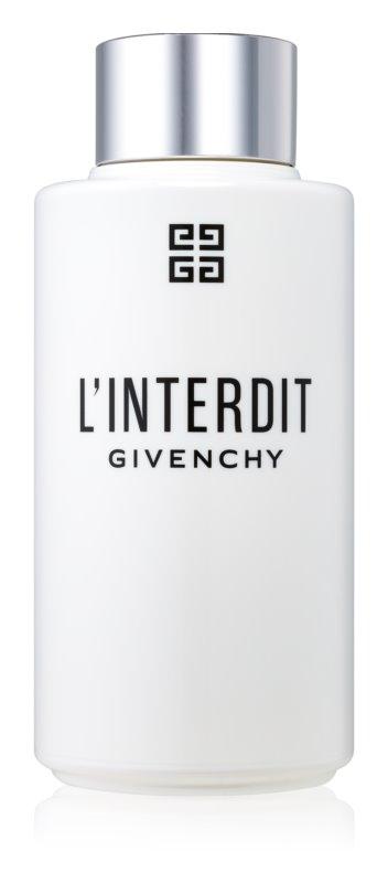 Givenchy L'Interdit sprchový olej pre ženy 200 ml
