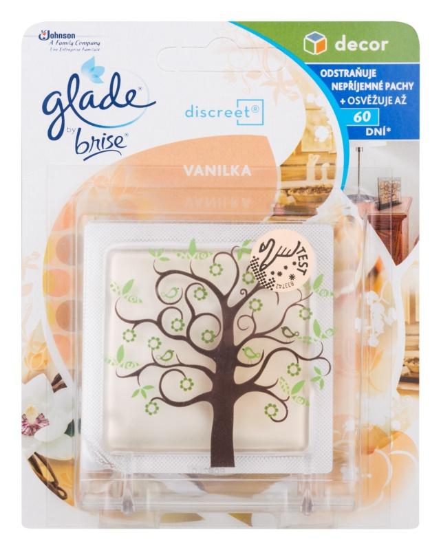 Glade Discreet Decor odświeżacz powietrza 8 ml + podstawka Vanilla