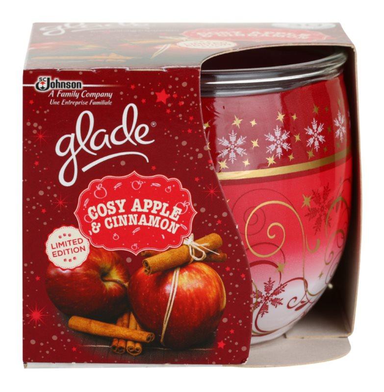Glade Cosy Apple & Cinnamon Geurkaars 120 gr