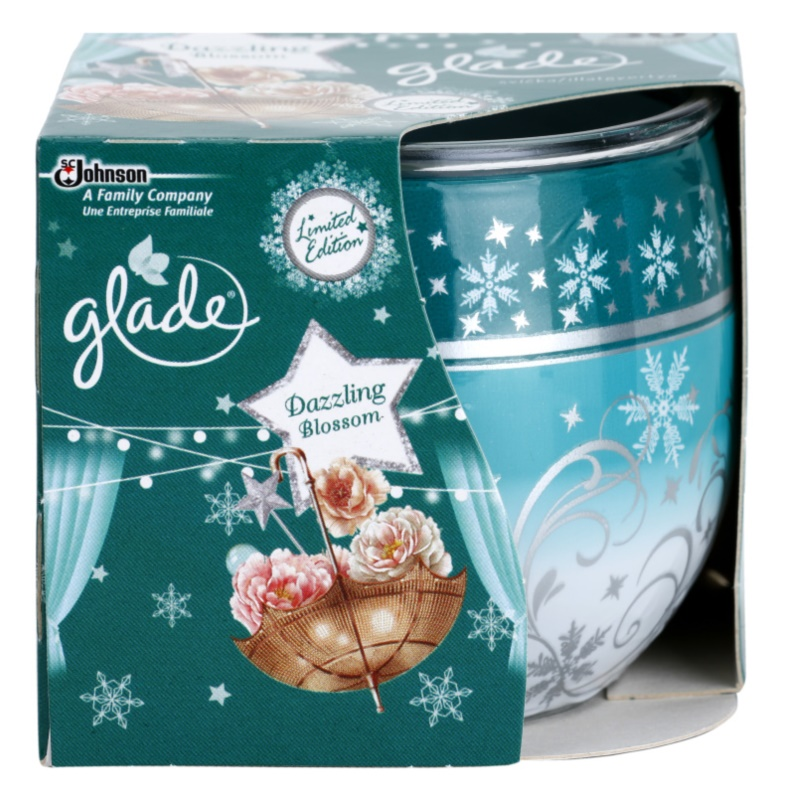 Glade Dazzling Blossom Scented Candle 120 g