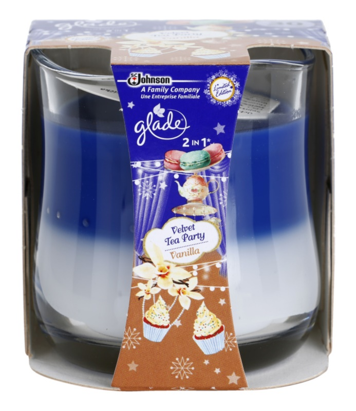 Glade Velvet Tea Party and Vanilla 2 in 1 Scented Candle 135 g