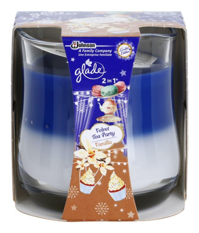 Glade Velvet Tea Party and Vanilla 2 in 1 vonná svíčka 135 g