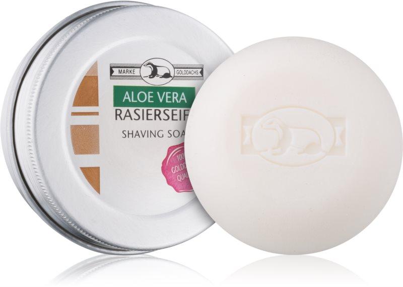 Golddachs Aloe Vera mýdlo na holení v krabičce