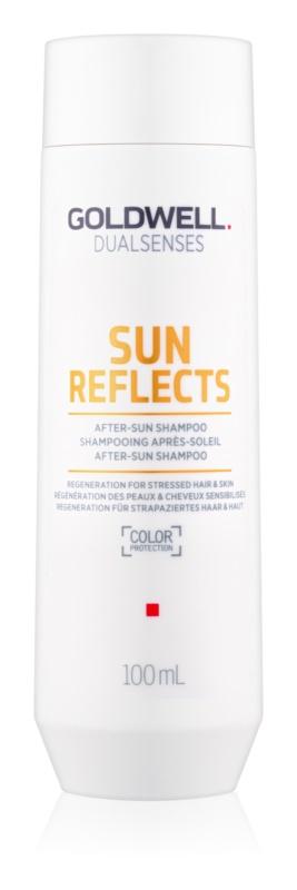 Goldwell Dualsenses Sun Reflects reinigendes und nährendes Shampoo für von der Sonne überanstrengtes Haar