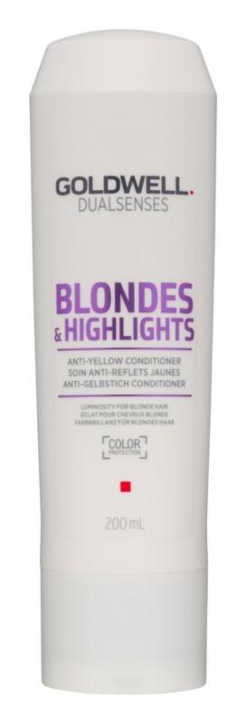 Goldwell Dualsenses Blondes & Highlights Conditioner für blondes Haar neutralisiert gelbe Verfärbungen