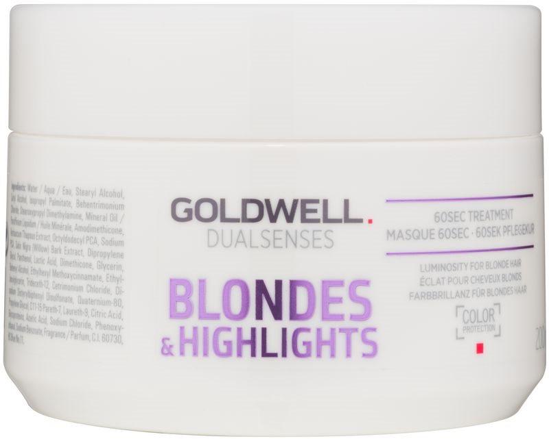 Goldwell Dualsenses Blondes & Highlights regenererende sheet mask neutraliseert gele Tinten