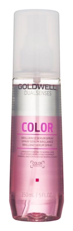 Goldwell Dualsenses Color leöblítést nem igénylő szérum spray formában a festett haj védelméért és fényességéért