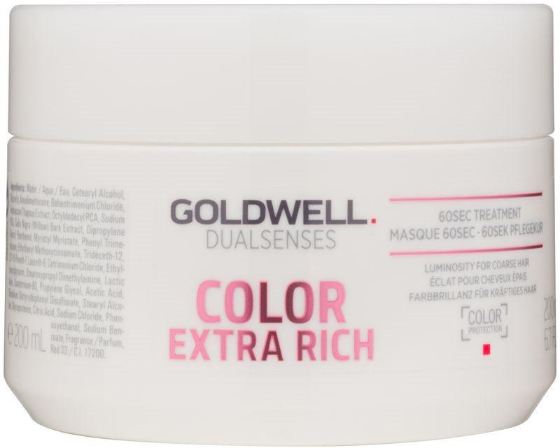 Goldwell Dualsenses Color Extra Rich regeneračná maska  pre hrubé, farbené vlasy
