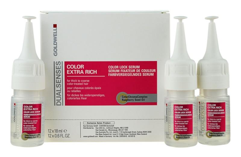 Goldwell Dualsenses Color Extra Rich leöblítést nem igénylő szérum a vastagszálú, festett hajra