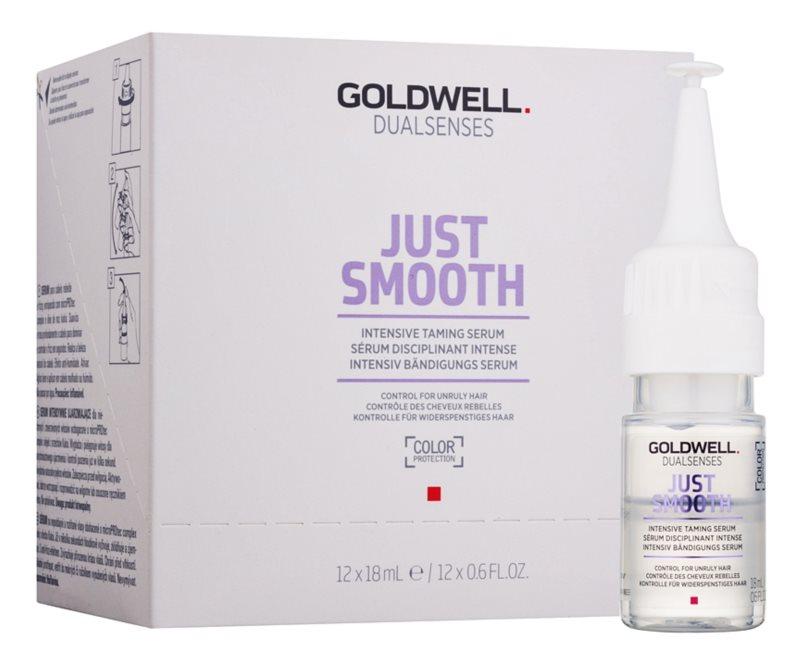 Goldwell Dualsenses Just Smooth vyhladzujúce sérum pre nepoddajné a krepovité vlasy