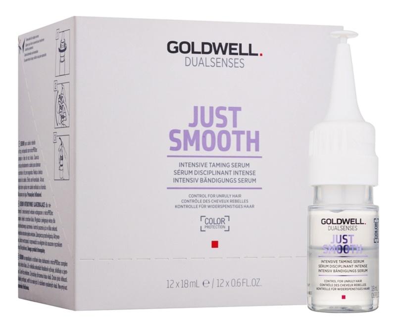 Goldwell Dualsenses Just Smooth vyhlazující sérum pro nepoddajné a krepatějící se vlasy