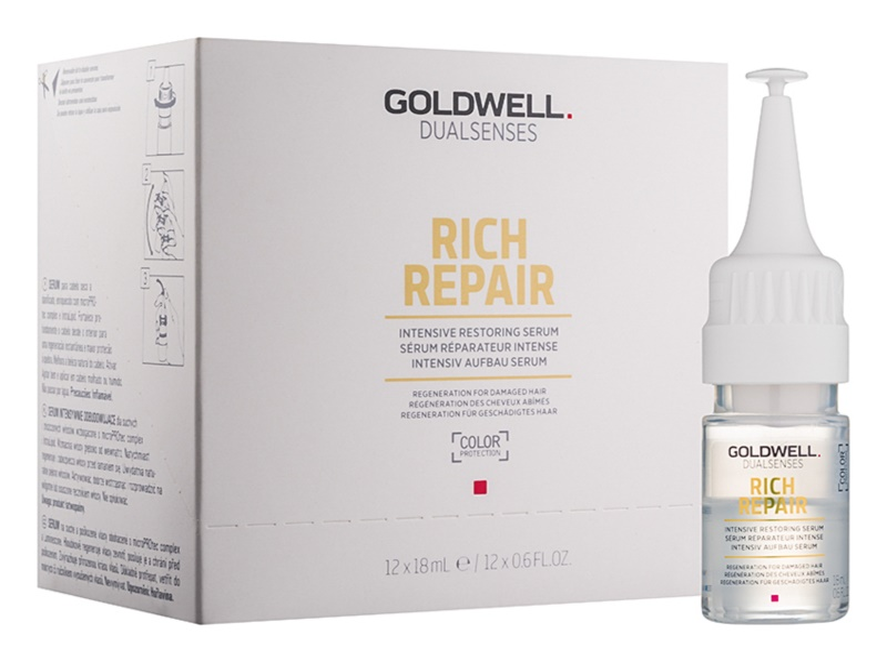 Goldwell Dualsenses Rich Repair інтенсивна відновлююча сироватка для сухого або пошкодженого волосся