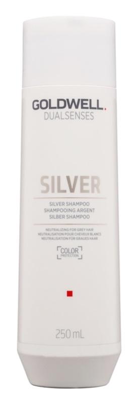 Goldwell Dualsenses Silver champú neutralizante para cabellos grises para cabello rubio y canoso