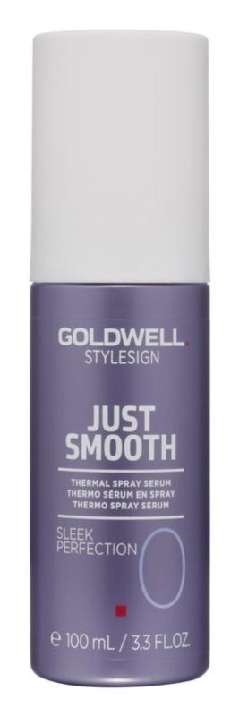Goldwell StyleSign Just Smooth sérum termal em spray para finalização térmica de cabelo