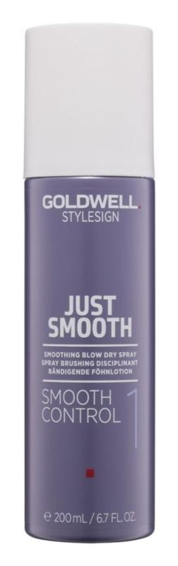 Goldwell StyleSign Just Smooth gladilno pršilo za sušenje s sušilcem