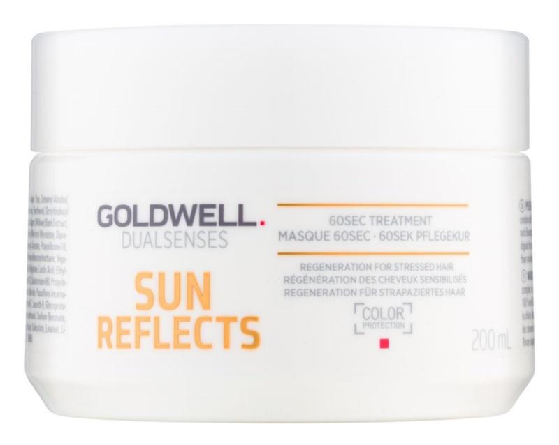 Goldwell Dualsenses Sun Reflects máscara regeneradora para cabelo danificado pelas ações do sol, cloro e sal