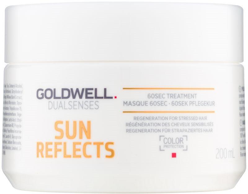 Goldwell Dualsenses Sun Reflects Regenerating Mask for Hair Damaged by Chlorine, Sun & Salt