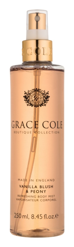Grace Cole Boutique Vanilla Blush & Peony erfrischendes Bodyspray
