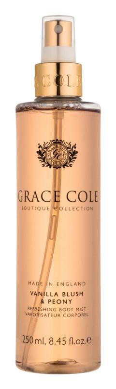 Grace Cole Boutique Vanilla Blush & Peony osvěžující tělový sprej