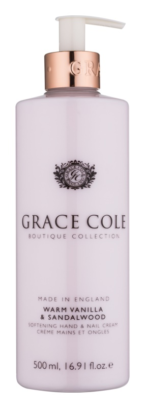 Grace Cole Boutique Warm Vanilla & Sandalwood Softening Hand and Nail Cream