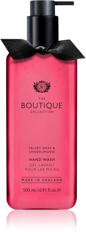 Grace Cole Boutique Velvet Rose & Sandalwood tekuté mydlo na ruky