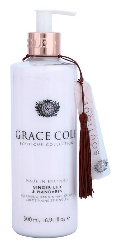 Grace Cole Boutique Ginger Lily & Mandarin crema suavizante para manos y uñas