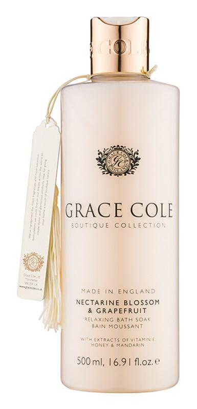 Grace Cole Boutique Nectarine Blossom & Grapefruit espuma de baño relajante