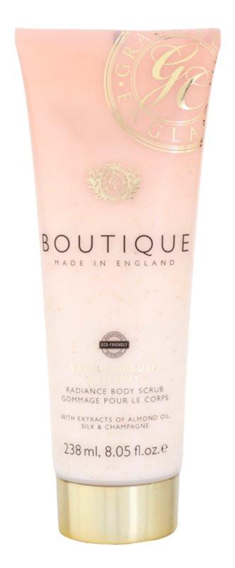 Grace Cole Boutique Vanilla Blush & Peony élénkítő testpeeling