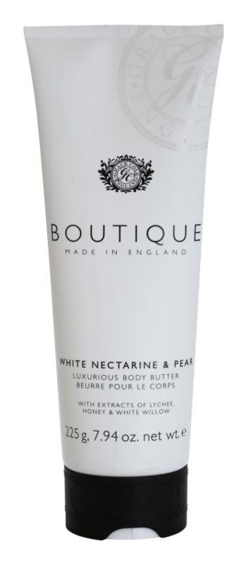 Grace Cole Boutique White Nectarine & Pear luxuriöse Körperbutter