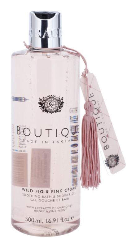 Grace Cole Boutique Wild Fig & Pink Cedar gel de duche e banho suave