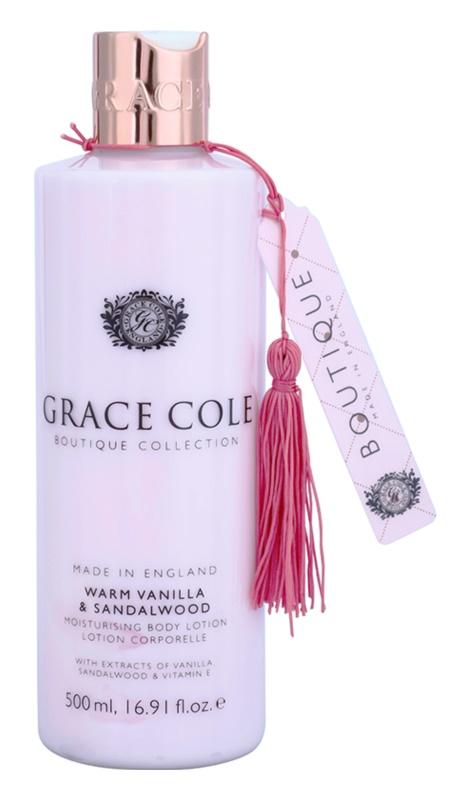 Grace Cole Boutique Warm Vanilla & Sandalwood hidratáló testápoló tej